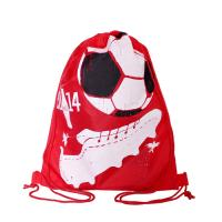Full Side Printed Polyester Drawstring Backpack , Outdoor Gym Sports Backpack