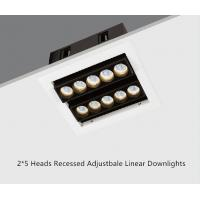 China Double Line 2*5 Heads 21W LED Recessed Linear Adjustable Downlight wholesale