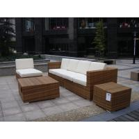 China Outdoor Indoor PE Rattan Sofa With Side Sofa , Middle Sofa , Ottoman , Coffee Table wholesale