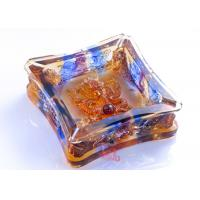 High Grade Colored Glaze Crafts / Ashtray For Living Rooms Dressing Table