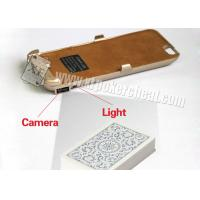 Buy cheap Iphone 6 Golden Plastic Charger Case Poker Scanner With Micro Camera product