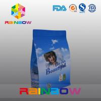 Buy cheap Custom Printed Flat Bottom Plastic Bags , Quad Seal Block Bottom Bag With Clear Window product