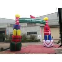 Buy cheap Colorfull PVC Coated Nylon Inflatable Christmas Decorations / Blow Up Arch product