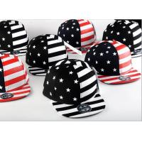 Painting USA Flag Cool Snapback Hats For Men , Structured Blank Logo Boys Snapback Hats