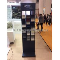 Buy cheap 3 - Row Metal Stone Sample Display Racks For Tile Trade Show / Exhibition Advertising product