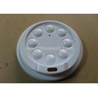 White Plastic Paper Cup Lid With Button For Coffee Cups / Cold Cups