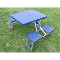 Durable Blue ABS Plastic Folding Camping Table And Chairs For Picnic of folda