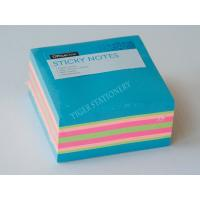 Three Neon color sticky note cube sticky memo pad  3X3 inc for office assistant school business famaily