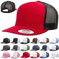 Buy cheap Plastic Closure Mesh Trucker Hats Blank 5 Panel Colorful Snapback Cap Cotton Sweatband product