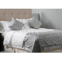 China Beautiful White Queen Size Luxury Hotel Bedding Sets with Cotton Embroidery Fabric on sale