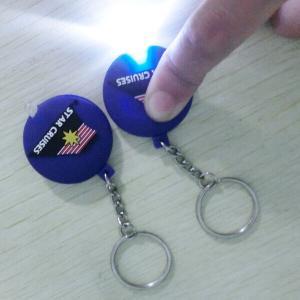 China One Double Sided Soft PVC Keychain , High Brightness LED Flashlight Keychain on sale