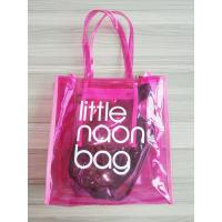 Buy cheap Clear Pink PVC Tote Bag Storage Organizer With Zipper Closure , Inner Pocket from wholesalers