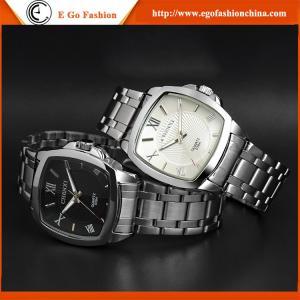 Buy cheap seletor de marcagem com ferro quente famoso personalizado 039A do quadrado do homem do relógio da faixa de aço inoxidável do relógio do OEM do relógio product