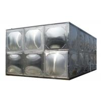 Buy cheap 304 Stainless Steel Water Storage Tanks With Stainless Steel Mounting Panel product