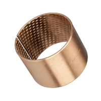 Buy cheap 150N/mm² Oilless Lubrication CuSn8P Bronze Graphite Bushings product