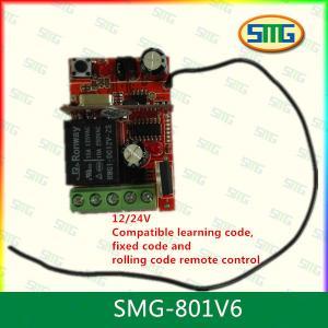 Buy cheap Receptor teledirigido inalámbrico universal del canal de SMG-801V6 DC 12V/24V 315MHz 1 product