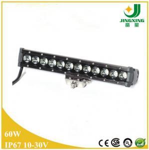 China Single row 12v  auto led light bar 60W Epistar offroad led light bar on sale