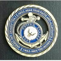 Buy cheap Blue United States navy seal challenge coin Metal Soft Enamel Die Casting product