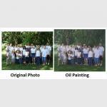 Buy cheap Realistic Custom Oil Painting Portraits /  Personalized Oil Painting Family Portraits product