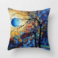 China Throw Pillow cushion Covers, Decorative Pillowcase for Home Sofa Bedding Couch,Cotton Linen Map Pillow Covers on sale