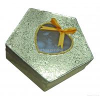 Buy cheap Pentagon Shaped Cosmetic Packaging Boxes With Clear Pvc Window / Ribbon Full from wholesalers