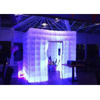 China Romantic Inflatable Photo Booth LED Light 2.4m Color Changed With Blower on sale