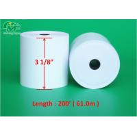 China Eco - Friendly 3 Inch Thermal Paper Rolls , Thermal Pos Roll High Rubbing Resistance on sale