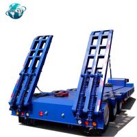 Buy cheap 3 Axle 60ton Lowbed Lowboy Semi Trailer Low Bed Truck Trailer for heavy duty product