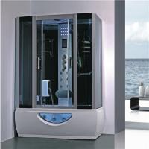 China Large Rectangular Shower Enclosure Hydromassage Steam Bath Shower Combination on sale