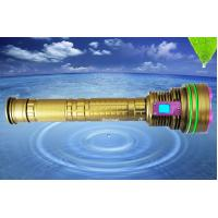 Buy cheap DX12 12*XML2 10000LM led dive flashlight, 6500k underwater 100m professional led diving torch from wholesalers