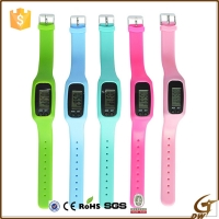 Buy cheap ROHS Silicone Pedometer 1ATM LED Digital Watch Sport product