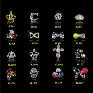 L'art de clou de l'arc 3D d'alliage du Zircon des femmes incline les bijoux ML992-1007 de décoration d'autocollants