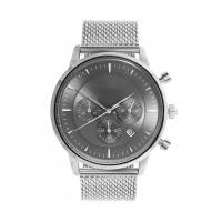 Buy cheap Light Grey Face Stainless Steel Wrist Watch , Mens Stainless Steel Chronograph Watches product