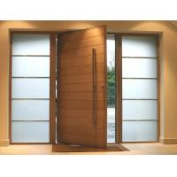 Buy cheap Fix Glass Two Sides Pivot Entrance Door Max Width 1100mm E1 Medium Desity Fibreboard product