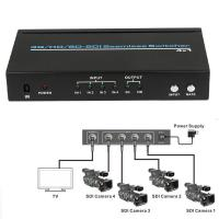 China 4 Port BNC HD SD 3G SDI Seamless switcher 4x1 Switch 2.97Gb/s 1080P + IR Remote 1080p@60Hz on sale