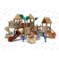 Buy cheap Outdoor Plasitc Wooden Playground Slide Bamboo Landscape Children Paradise product