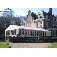 Buy cheap White Luxury Outdoor Wedding Marquee / 10x30 Party Tent With Glass Walls from wholesalers