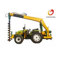 China Tower Erection Tools 100HP Tractor Mounted Digger Machine With Crane / Auger on sale