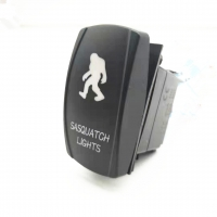 Buy cheap Hot Sale 3-8P Car Marine Car Switch Laser 12-24V DC 20A ON OFF Rock Switch With LED Light product