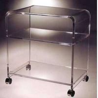 Buy cheap clear acrylic serving cart/perspex hotel service trolley/acrylic dining serving cart with wheels product