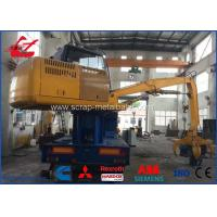 Buy cheap Diesel Engine Drive Metal Scrap Baler Logger With Grab and Trailer 3m Press Room product