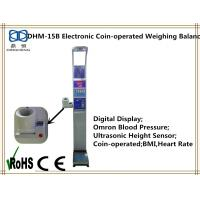 Buy cheap Electronic coin-operated height and weight measuring scale with bmi blood pressure product
