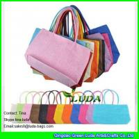 Buy cheap LUDA soft paper straw ladies handbags cheap straw handbags for promotion product
