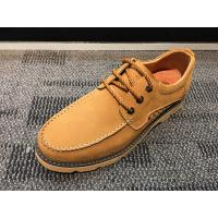 Buy cheap Suede Leather Lace Up Sneakers Sport Shoes , Mens Flat Sole Shoes Casual Shoes Black Color product