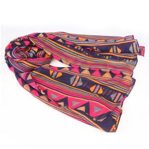 bufanda del poliéster con el modelo de la geometría