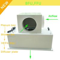 Buy cheap Low Noise 65bBA Clean Room Blower Fan Filter With Large Airflow 0.35 - 0.75m/S Speed product