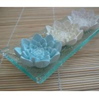 China Customizing Colors Aroma Plaster Diffuser Flowers with Glass Holder TS-CF006 on sale