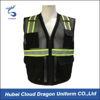 Buy cheap Sleeveless Reflective Tape Security Guard Vest 100% Polyester OEM & ODM product