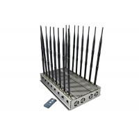 Buy cheap High Power Mobile Phone Signal Jammer 16 Antennas 7 Cooling Fans 101 Watt For Prison product