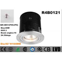 China Round Dia 92*H 104MM GU5.3 QR-CB51 Dimmable Max 50W Downlight IP20 with Iron Box wholesale